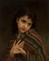 William Adolphe Bouguereau (French, 1825-1905) La frileuse, 1879 Oil on canvas 22 x 18 inches (55
