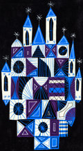 Animation Art:Concept Art, Mary Blair It's a Small World Building Design Concept Art(Walt Disney, 1964)....