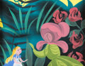 Animation Art:Concept Art, Mary Blair Alice in Wonderland Alice and Mother Daffodil Concept Painting (Walt Disney, 1951)....