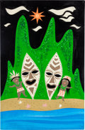 Animation Art:Concept Art, Mary Blair It's a Small World Concept Painting (Walt Disney,1964)....