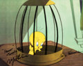 Animation Art:Production Cel, Sandy Claws Tweety Production Cel (Warner Brothers,1955)....