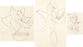Animation Art:Production Drawing, Baby Huey Clown on the Farm Fox Animation Drawings Group of3 (Famous, 1952).... (Total: 3 Original Art)