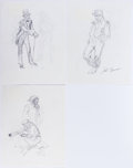 Original Comic Art:Sketches, John Buscema - Figure Sketches Original Art Group of 3 (undated).... (Total: 3 Original Art)