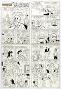 Original Comic Art:Complete Story, Al Hartley Betty and Me #51 Complete 6-Page Story OriginalArt (Archie, 1973).... (Total: 6 Original Art)