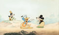 Animation Art:Production Cel, Hawaiian Holiday Goofy, Donald Duck, and Minnie MouseProduction Cel Setup (Walt Disney, 1937)....