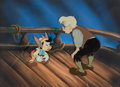 Animation Art:Production Cel, Pinocchio Geppetto and Pinocchio Production Cel Setup (WaltDisney, 1940)....