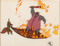 Animation Art:Production Cel, Robin Hood Production Cel Setup (Walt Disney, 1973)....