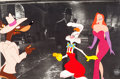 Animation Art:Production Cel, Who Framed Roger Rabbit? Roger and Jessica Production CelSetup (Disney/Amblin, 1988)....