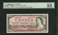Canadian Currency, BC-44d $1,000 1954.. ...