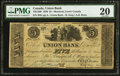 Canadian Currency: , Montreal, LC- Union Bank $5 Aug. 1, 1838 Ch. # 725-12-06.. ...