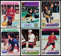 Hockey Cards:Sets, 1975-79 Topps Hockey Near/Partial Set Collection (3)...
