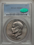 Eisenhower Dollars, 1977 $1 MS66+ PCGS. CAC. PCGS Population: (911/19 and 20/0+). NGC Census: (310/8 and 1/0+). Mintage 12,596,000. ...