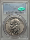 Eisenhower Dollars, 1976-D $1 Type Two MS66+ PCGS. CAC. PCGS Population: (889/28 and 14/1+). NGC Census: (490/20 and 0/0+). Mintage 82,179,568...