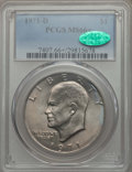 Eisenhower Dollars, 1971-D $1 MS66+ PCGS. CAC. PCGS Population: (1100/30 and 38/0+). NGC Census: (652/44 and 2/0+). Mintage 68,587,424. ...