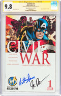 Modern Age (1980-Present):Superhero, Civil War #1 Wizard World Comic Con Edition - Signature Series(Marvel, 2016) CGC NM/MT 9.8 White pages....