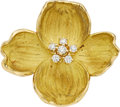 Estate Jewelry:Brooches - Pins, Diamond, Gold Brooch, Tiffany & Co.. . ...