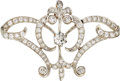 Estate Jewelry:Brooches - Pins, Diamond, Platinum-Topped Gold Pendant-Brooch. ...