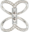 Estate Jewelry:Rings, Diamond, White Gold Ring. . ...