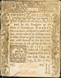 Colonial Notes, Connecticut July 1, 1780 20s Fine-Very Fine....