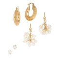 Estate Jewelry:Earrings, Diamond, Freshwater Cultured Pearl, Gold Earrings. . ... (Total: 6 Items)