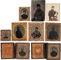 Photography:Tintypes, Lot of Nine Civil War Photographic Images of Union Soldiers....(Total: 9 Items)