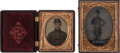 Photography:Tintypes, Lot of Two Civil War Tintypes of Union Soldiers.... (Total: 2 Items)