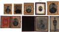Photography:Tintypes, Lot of Eight Civil War Images Tentatively Identified to Union Soldiers From Maine Regiments. ... (Total: 8 Items)