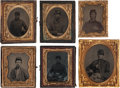 Photography:Tintypes, Lot of Six Civil War Photographic Images of Union Soldiers.... (Total: 5 Items)