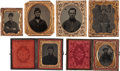 Photography:Tintypes, Lot of Six Civil War Tintypes Tentatively Identified to UnionSoldiers From New Hampshire Regiments. ... (Total: 5 Items)