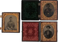 Photography:Tintypes, Lot of Three Civil War 1/6th Plate Images of Unidentified UnionSoldiers.... (Total: 3 Items)