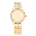 Estate Jewelry:Watches, Omega Lady's Diamond, Gold Watch. ...