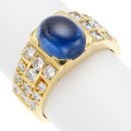 Estate Jewelry:Rings, Sapphire, Diamond, Gold Ring. . ...
