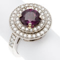 Estate Jewelry:Rings, Ruby, Diamond, White Gold Ring. . ...
