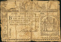 Colonial Notes, New York February 16, 1771 5s Good-Very Good....