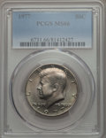 Kennedy Half Dollars, 1977 50C MS66 PCGS. PCGS Population: (185/38). NGC Census:(178/27). Mintage 43,598,000. ...