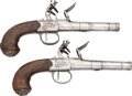 Handguns:Muzzle loading, Pair of Richards Flintlock Pistols.... (Total: 2 Items)