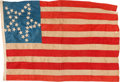 Antiques:Decorative Americana, Flags: 33-Star Antebellum Flag....