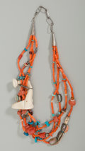 American Indian Art:Jewelry and Silverwork, A Choctaw Necklace . Robert Kaniatobe. c. 1980...