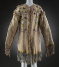 American Indian Art:Beadwork and Quillwork, A Plateau Beaded Hide Scout Shirt. c. 1890...