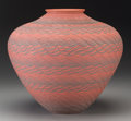 American Indian Art:Pottery, A Wyandotte Red and Black Jar. Richard Zane Smith. c. 1991...
