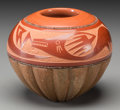 American Indian Art:Pottery, A San Ildefonso Polychrome Etched Jar. Russell Sanchez. c. 1995...