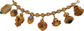 Estate Jewelry:Bracelets, Multi-Stone, Gold Bracelet. ...