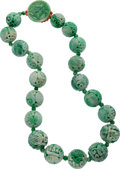Estate Jewelry:Necklaces, Jadeite Jade, Coral Necklace. ...