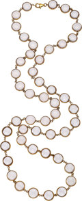 Estate Jewelry:Necklaces, Quartz, Gold Necklace. . ...