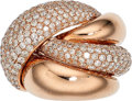 Estate Jewelry:Rings, Diamond, Pink Gold Ring. . ...