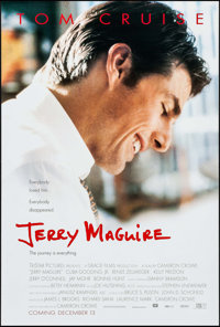 "Jerry Maguire & Other Lot (Tri-Star, 1996). One Sheets (2) (26.75"" X 39.75"") DS Advance. Drama. ... (T..."