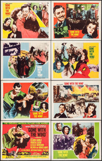 """Gone with the Wind (MGM, R-1954). Lobby Card Set of 8 (11"""" X 14""""). Academy Award Winners. ... (Total: 8 Items)"""
