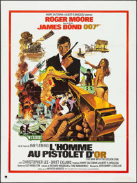 """The Man with the Golden Gun (United Artists, R-1980s). French Grande (47"""" X 63"""") DS. James Bond"""