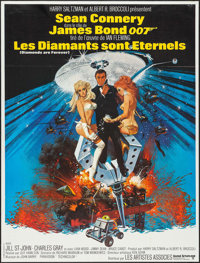 """Diamonds are Forever (United Artists, 1971). French Grande (47"""" X 63""""). James Bond"""