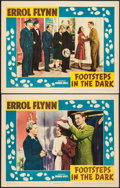 """Movie Posters:Mystery, Footsteps in the Dark (Warner Brothers, 1941). Lobby Cards (2) (11""""X 14""""). Mystery.. ... (Total: 2 Items)"""